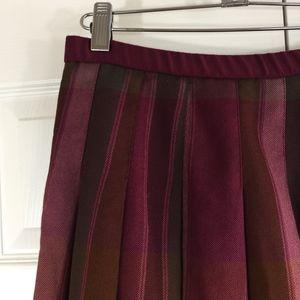 Pendleton Skirts - Pendleton wool skirt retro style burgundy plaid